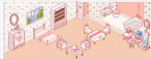 Pink pixel room