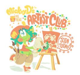 THE MICKEY D'S ARTIST CLUB! circa 1993