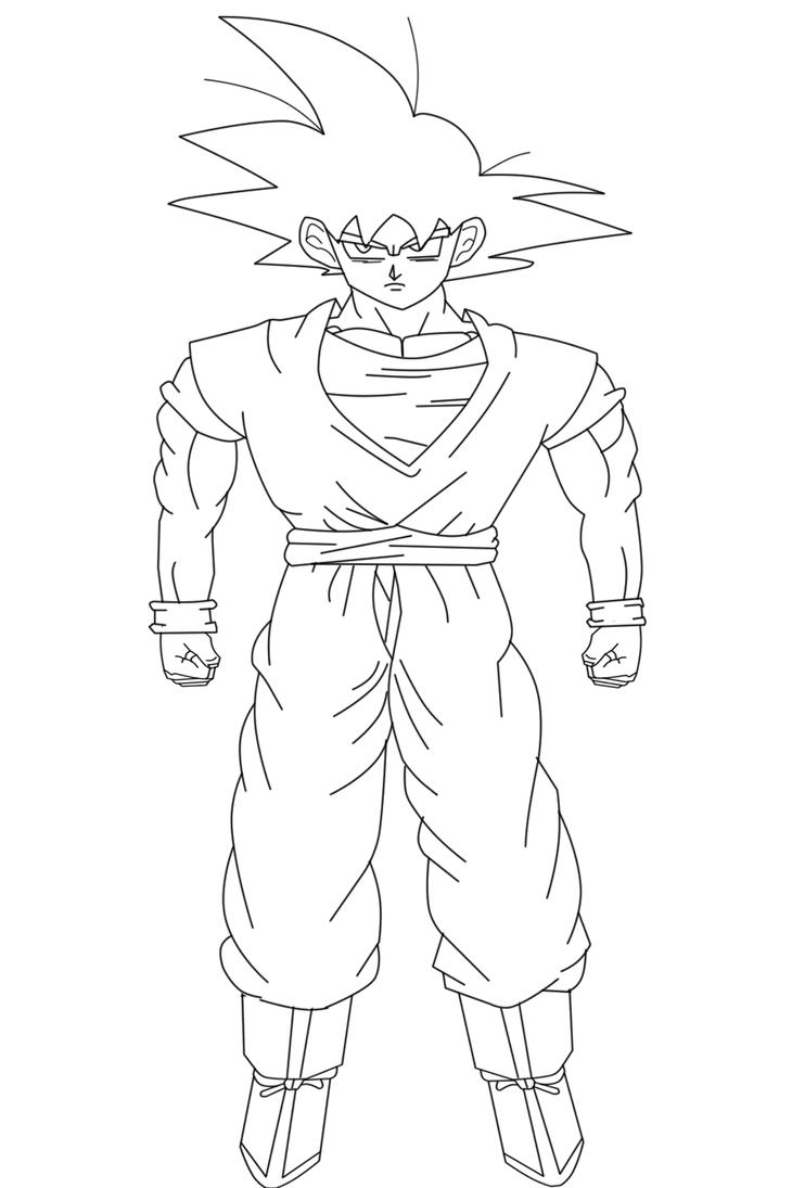 My Goku Drawing Lineart Edit by jeanpaul007 on DeviantArt