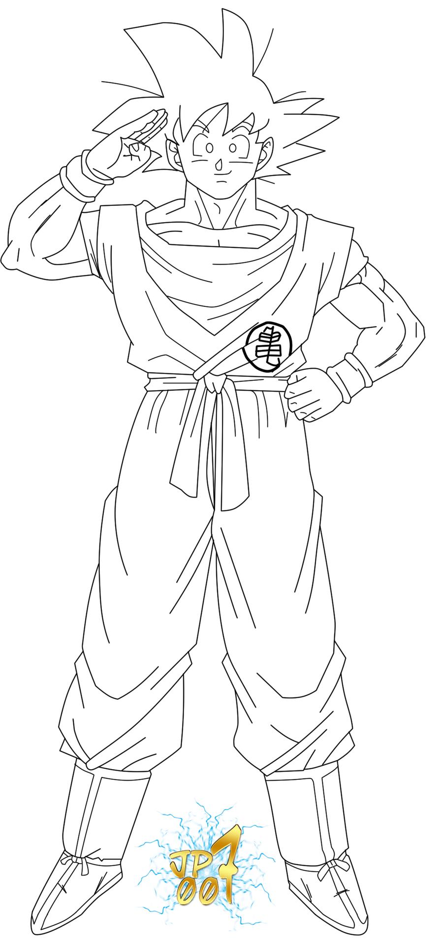 Goku Ova 2008 Lineart By JP7 by jeanpaul007 on DeviantArt