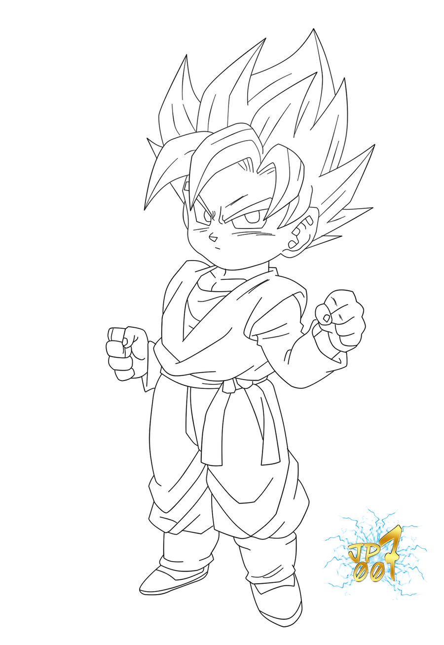 goten coloring pages - photo#4