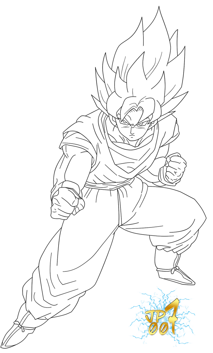 Line Art Photo Cs : Goku ssj cs lineart by jp jeanpaul on deviantart