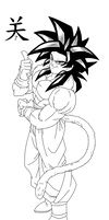 Goku GT SSJ4 Lineart
