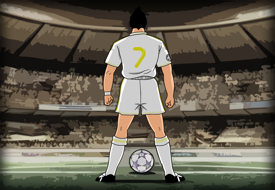Cr7 Free Kick Pose Wallpaper Cristiano Ronaldo Free Kick By