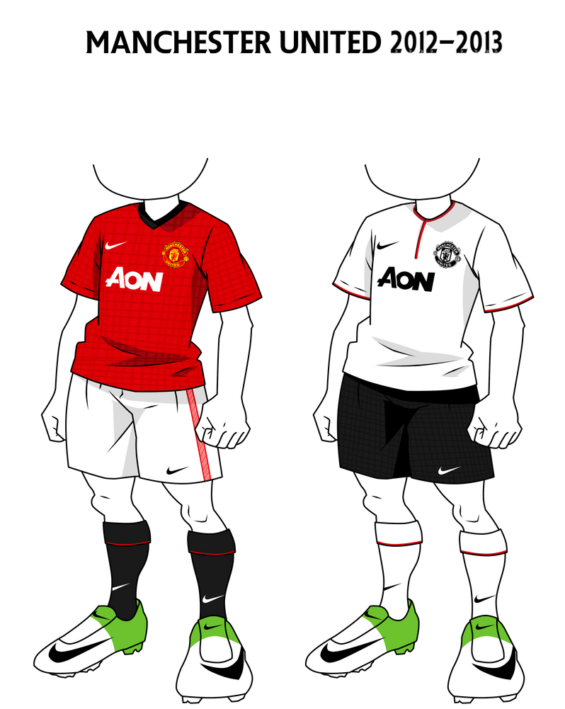 f5af94b80 InazumaEleven Kits  Manchester United 12-13 by jeanpaul007 on DeviantArt