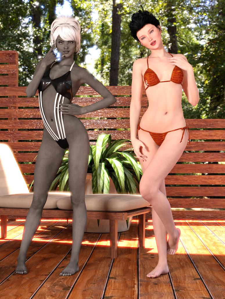 Chiana + Lori by LadyAdaraConstantine