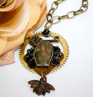 Steampunk Bee Goddess Necklace