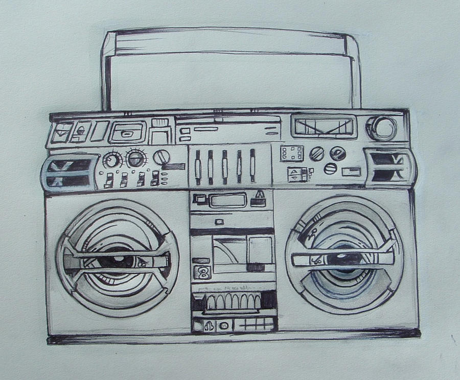Boombox tattoo design by crazyredbeard on DeviantArt
