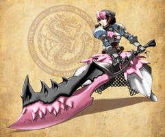 Monster Hunter -Pretty in pink by polarityplus