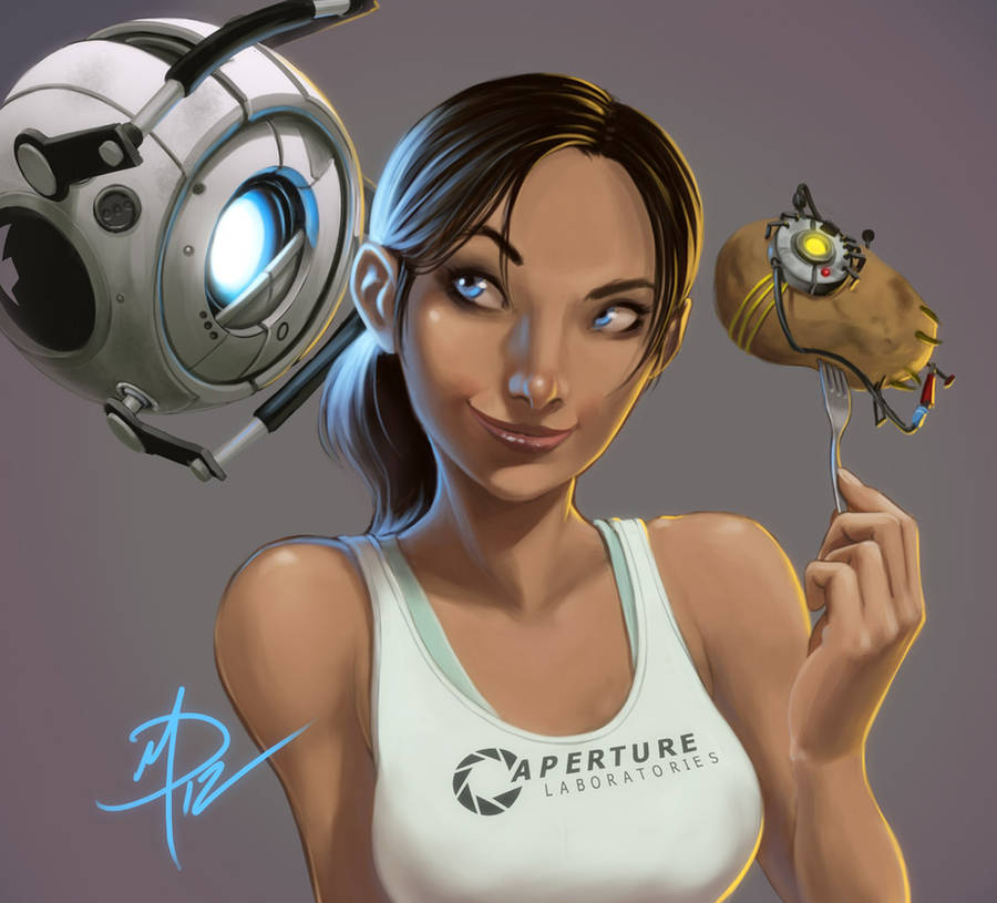 Portal 2 _ With friends like these... by polarityplus