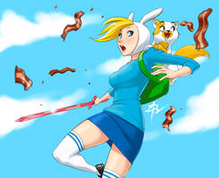 Fionna and Cake - Bacon!