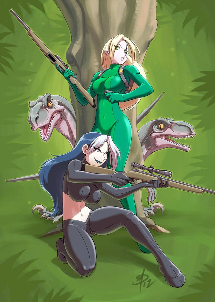Raptor Hunt by polarityplus