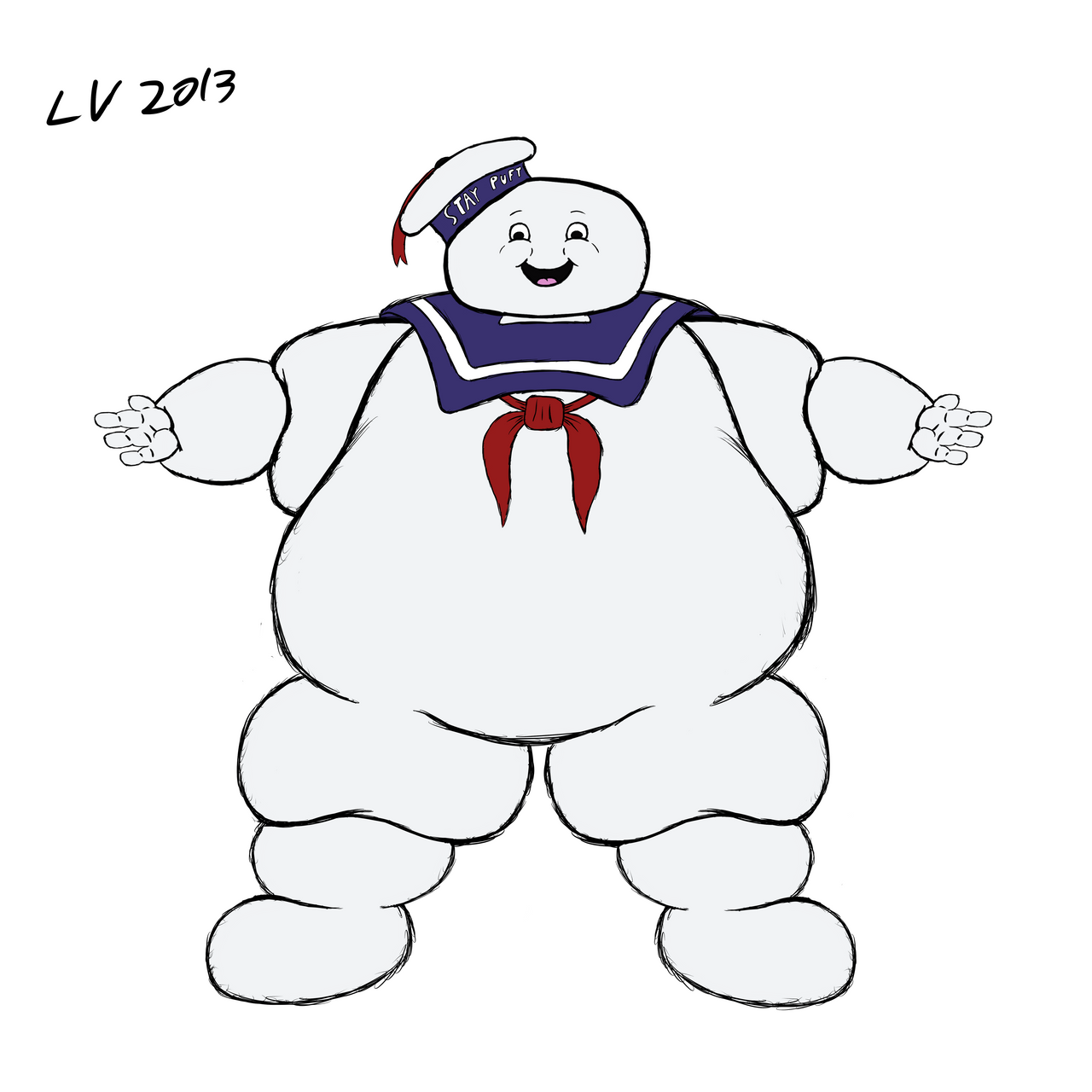 Mr stay puft by lordvegeta300 on deviantart for Stay puft coloring page