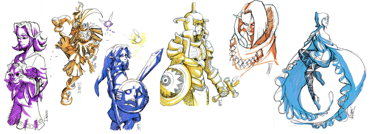 Zelda Sketches by YvanieArtMaker