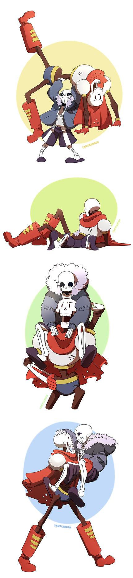 Goofy Skeletons Bros 2 by YAMsgarden