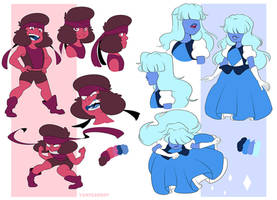 Ruby and Sapphire by YAMsgarden