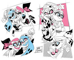 Splatoon - Inky and Inked - Doodles- 01
