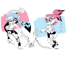 Splatoon - Inky and Inked - Doodles- 02
