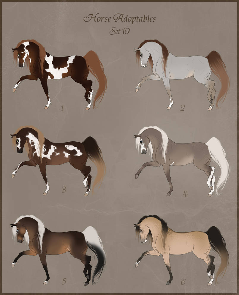 Adoptables Set 20 - OPEN - 2 LEFT - PRICES LOWERED by Paardjee