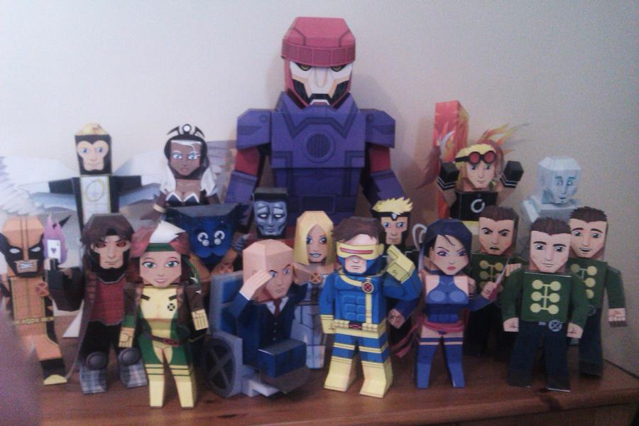 A load of X-Men mypaperheroes by xavierleo