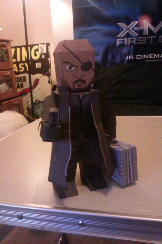 Nick Fury MyPaperhero by xavierleo