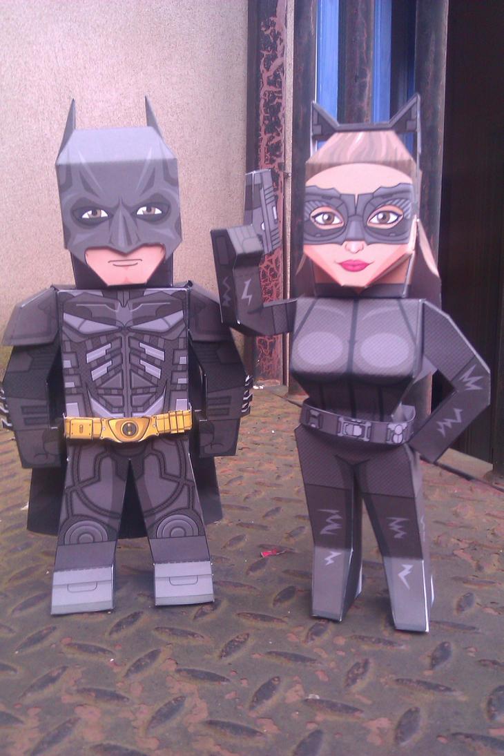 Dark Knight Rises Catwoman (WIP) and Batman by xavierleo