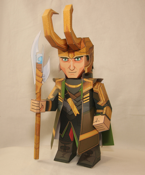 mypaperheroes Paper Avengers Loki by xavierleo