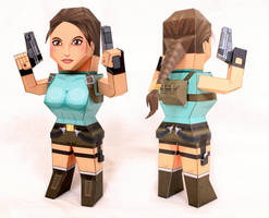 Tombraider : Lara Croft Paper Model by xavierleo