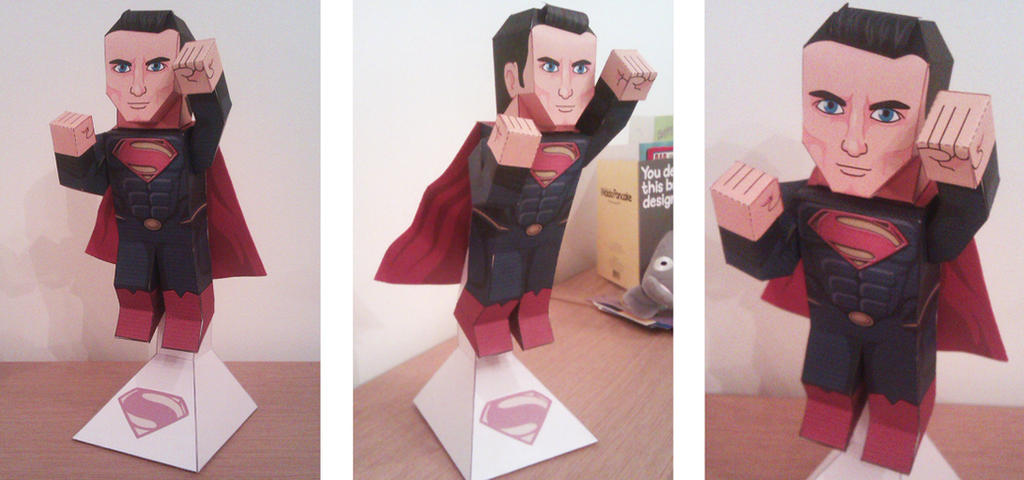 Man of Paper ( Superman - Man of Steel version ) by xavierleo