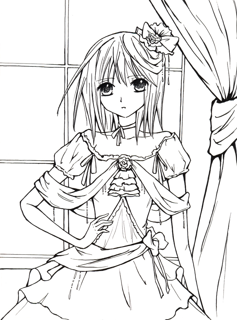 Anime Vampire Coloring Pages