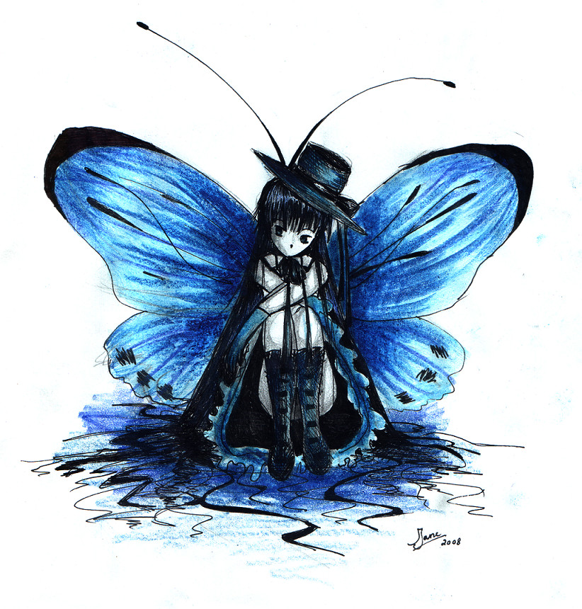 blue butterfly group - photo #39