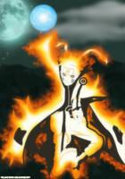 Naruto Kyuubi mode by Melonciutus