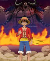 One Piece - Luffy vs Kaido by Melonciutus