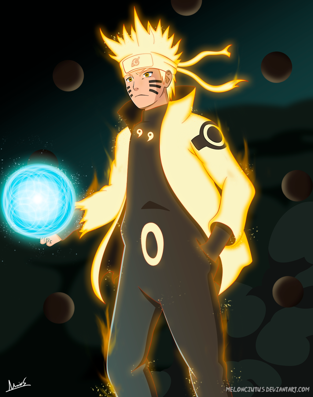 Naruto Ashura Mode - FanArt by Melonciutus