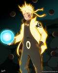 Naruto Ashura Mode - FanArt