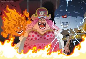 One Piece 851 - Brook vs Big Mom by Melonciutus