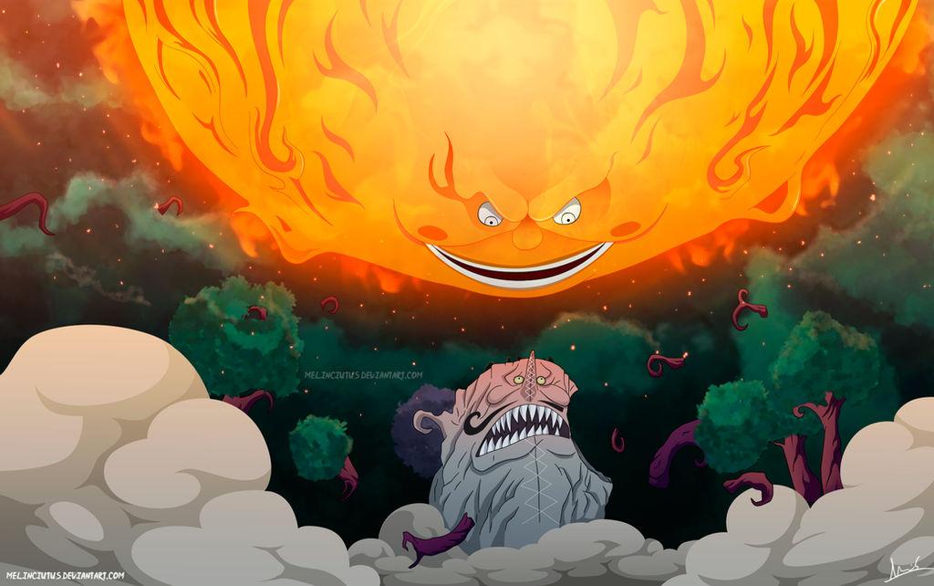 One Piece 874 - Prometheus vs King Baum by Melonciutus