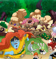One Piece 876 - Huida by Melonciutus