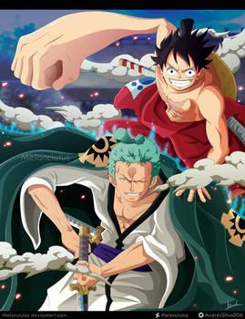 One Piece -Fanart - Luffy y Zoro (Wano)