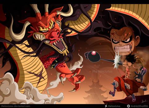One Piece - FanArt - Monkey D. Luffy vs Kaido