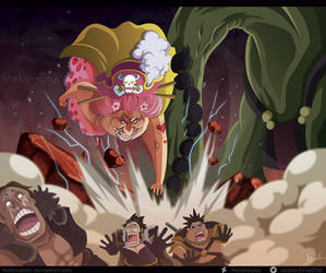 One Piece 945 - Big Mom y Queen