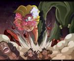 One Piece 945 - Big Mom y Queen by Melonciutus