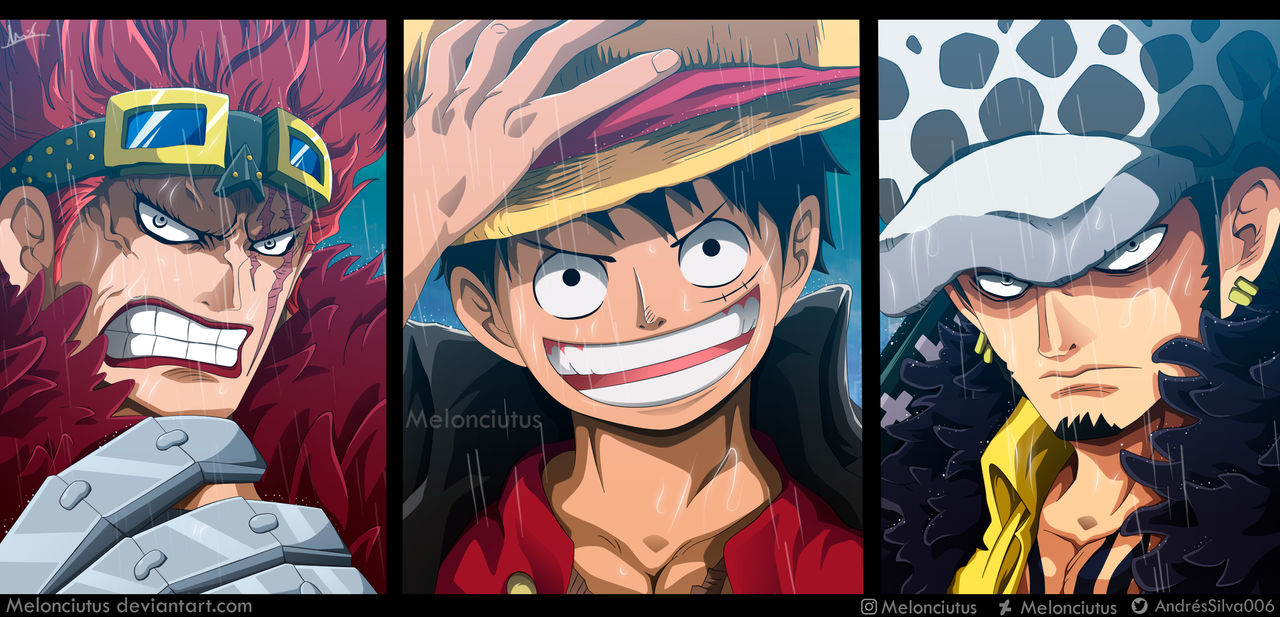 One Piece 974 - Luffy, Kid and Law