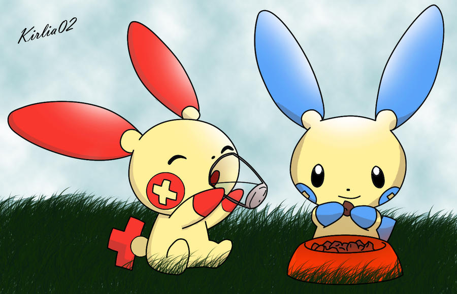 Plusle And Minun Wallpaper Plusle and Minun by Ry...