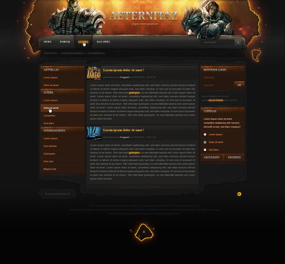 guild website by korasu on deviantart