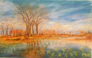 Golden lagoon by Ashvin-3