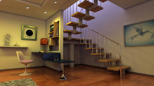 Interior with a stairway final 2