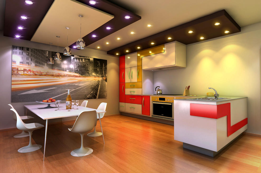 Kitchen design by Ultrarender