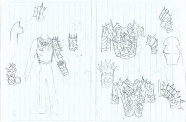 Sauron armor sketch 2 by KingOfCopper16