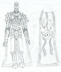 Sauron armor sketch 3 by KingOfCopper16